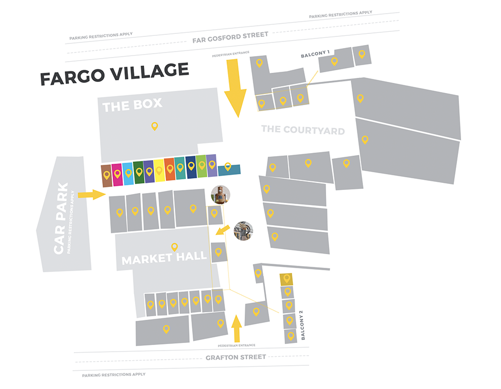 map of fargo village